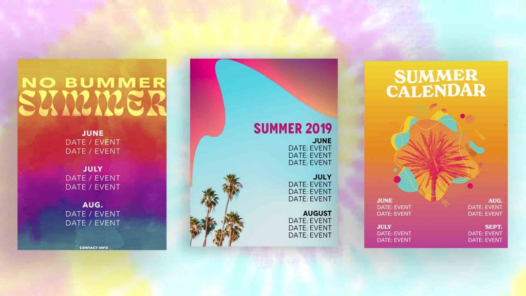 summer youth ministry calendars